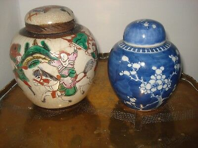 1xstunning chinese 19th century qing period large <46cm> vases<repaired>