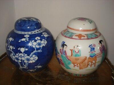 1xstunning chinese 18th century colourful ginger jar