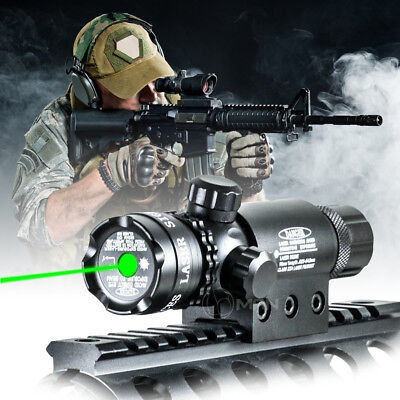 5mW Green Laser Sight Scope Gun Rail Mount Dual Ring trigger switch For Hunting