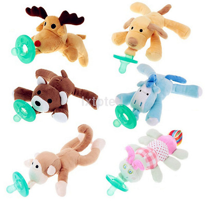 WubbaNub Animal Plush Toy Infant Baby Soothie Pacifier 0-6 Months AU