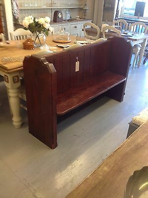 Victorian Antique Church Pew,Chair,Vintage Pine Bench.Kent Furniture Showroom
