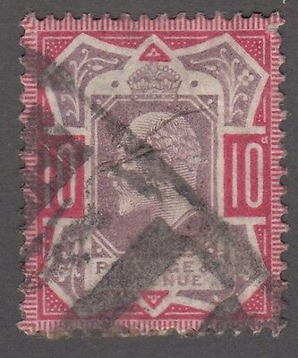 """Great Britain SG #311  10d  purple and red  """"KE VII""""  F   *"""
