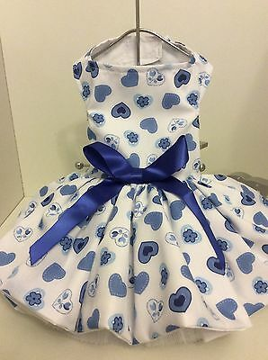 Summer Hearts Dog Dress Great for Chihuahua's and Other Small Dogs
