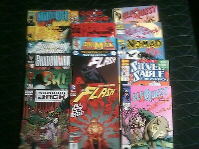 Vintage DC & Marvel Comics - Lot of 16 - The Flash, Silver Sable, Morbius, more