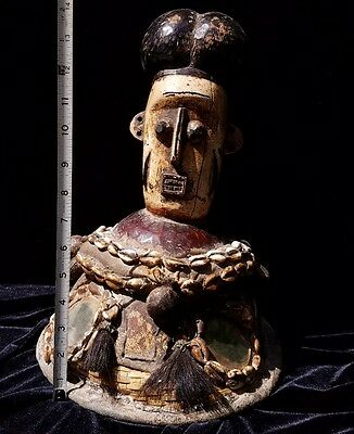 Haunted Voodoo African Hat Crown Authentic Headdress Used Antique Mask RARE