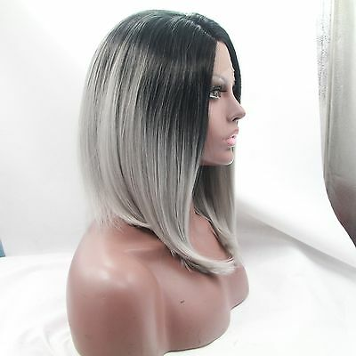 Human Remy Hair Wigs-Short Fashion Ash,front Lace Syntactic,wigs-100%luxury#70