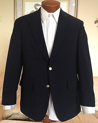 NEW Brooks Brothers Mens Gold Button Navy Blue Blazer Sz 38 S