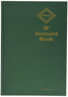 Simplex D Accounts Full Year Record Accounting Tax Account Book Small Business
