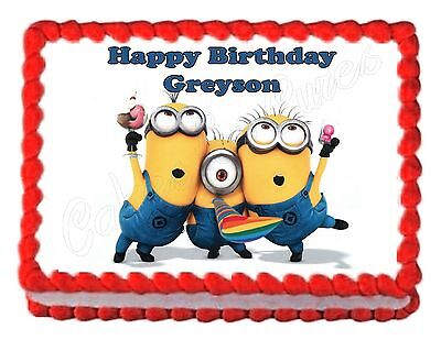 DESPICABLE ME MINIONS party edible cake image cake topper frosting sheet