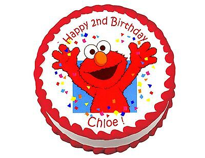 Elmo Party Decoration Round Edible Party Cake Topper Cake