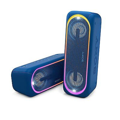 Sony SRS-XB40 Powerful Portable Speaker with Extra Bass and Lighting BLUE B