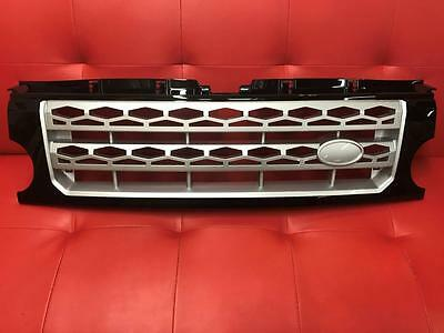 Land Rover Discovery 3 Black & Silver Front Grille - D4 Style but fits the D3