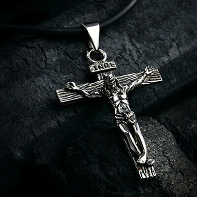 Hot 18K Gold Plated Necklace Women/Men INRI Crucifix Jesus Cross Pendant Jewelry