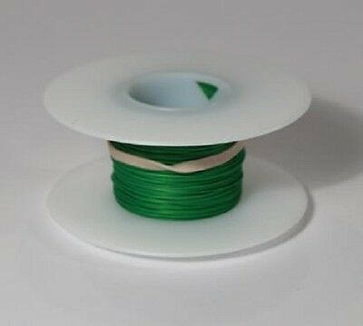 28 AWG Kynar Wire Wrap UL1422 Solid Wiremod type 100 foot spools GREEN NEW!