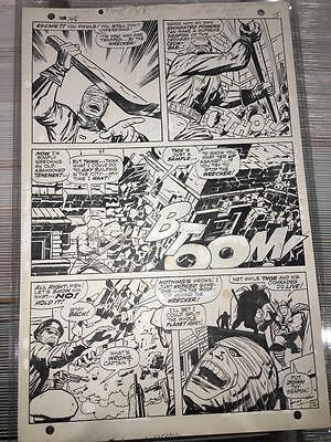 Jack Kirby Thor #148 Pg. 12 Original Comic Art Page - 1st Appearance of Wrecker