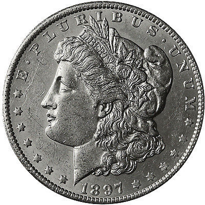 1897-S Morgan Silver Dollar Brilliant Uncirculated - BU