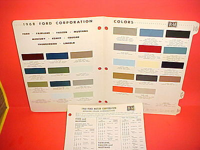 1968 Ford Lincoln Continental Mercury Mustang Galaxie 500Xl Exterior Paint Chips