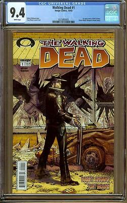 Walking Dead #1 CGC 9.4 1st Print - Rare Black Mature Label - 1st Rick Grimes