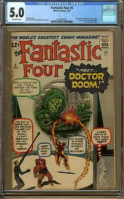 Fantastic Four #5 CGC 5.0 OW Pages 1st Appearance of Doctor Doom!!!!