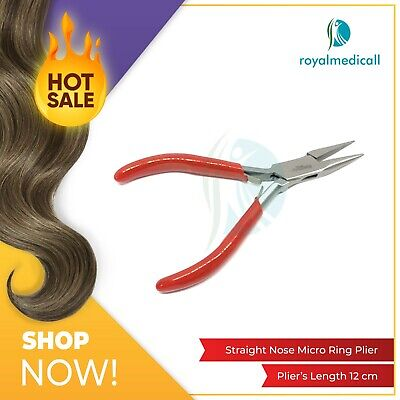 Micro Rings Hair Extensions Pliers Tool Kit Straight Nose Pliers UK
