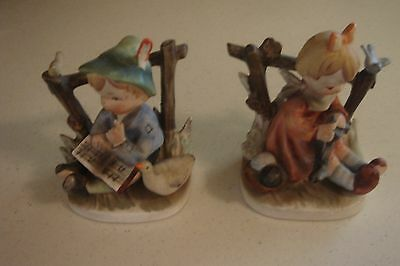 Vintage Boy and Girl Figures German style made in Japan 1950's