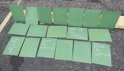 "LOT 18pc 9X12"" MINI TABLETOP CHALKBOARD SCHOOL CLASS PHOTOGRAPHY PICTURES"