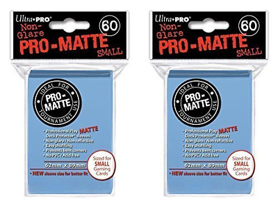 120 Ultra Pro Light Blue SMALL PRO-MATTE Deck Protectors Sleeves Colors Yugioh V