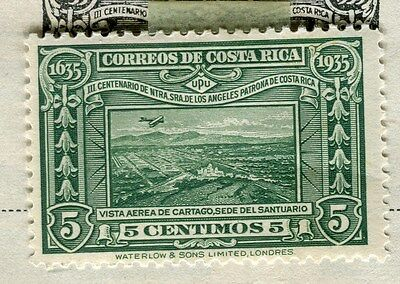 COSTA RICA;    1935 early Pictorial issue fine Mint hinged 5c. value