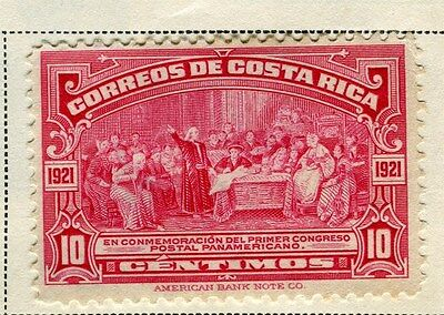 COSTA RICA;   1923 early Pictorial issue fine Mint hinged 10c. value