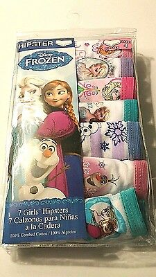 Disney Frozen 7 Girls Toddler Hipster Panties Underwear Size 4 New in Package
