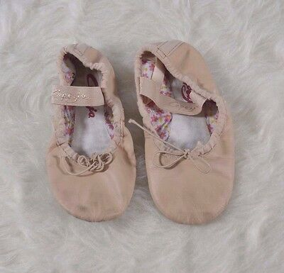 Capezio Pink slippers Leather Sz 10.5N Girls Toddlers Children's Dance ballet