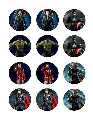 Baking Accs. & Cake Decorating Other Baking Accessories Dependable Pre-cut Superhero Hulk Happy Birthday Edible Cupcake Toppers Party Decorations
