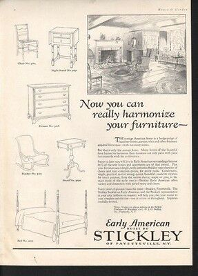 1927 Early American Stickley Furniture Bed Rocker Table10764