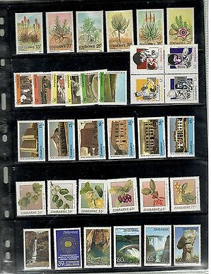 Zimbabwe SC #541//653 MNH stamps Plants Waterfalls Architecture Health stamps