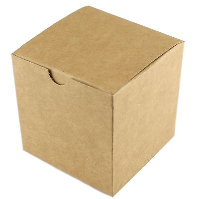 Small Brown Kraft Paper Candy Lolly Gift Favour Boxes 10 Party Wedding Craft
