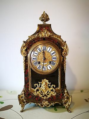 French Boulle Cartell Pendulum Clock Paul Thimig Dresden M 1890/1900 Table Clock
