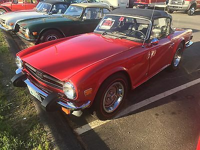 1976 Triumph TR-6  Low mileage, never been rusty, new red line tires, Southern car