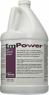 CASE of 4 ~ 1 Gallon Metrex 10-4100 Empower Dual Enzymatic Detergent Exp. 11/18