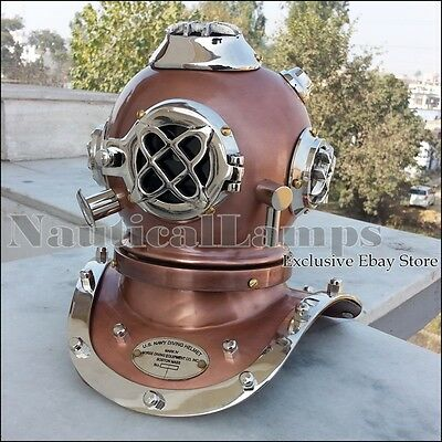 U.S. Navy Mark V Mini Diving Helmet Deep Sea Divers Helmet Solid Steel & Brass