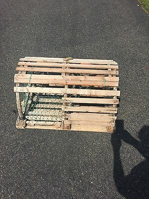Cool Antique Vintage Wood Wooden Half Round Lobster Trap Nautical Decor