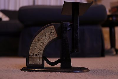 Vintage Antique Postal Scale - WaDiCo Black Metal Pennyweight Scale