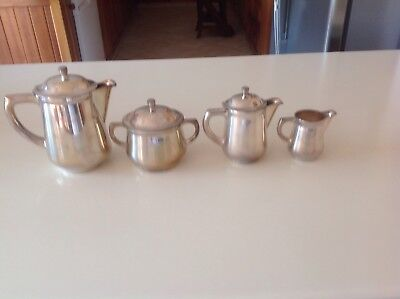 WMF WÜRTTEMBERGISCHE METALLWARENFABRIK  ART DECOsilverplated Coffe/Tea set 4 pc