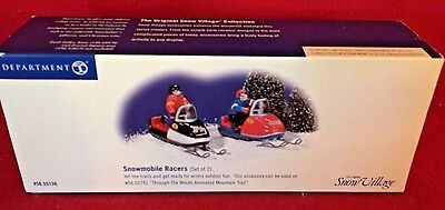 Snowmobile Racers Dept 56 Snow Village 55136 Retired heritage Christmas city