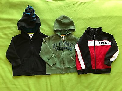 3 Toddler hoodie sweater Lot boys, 24 months, 2T
