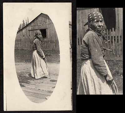 """""""109 YEARS OLD & STILL DRINKING"""" LEATHERY OLD INDIAN WOMAN~ 1910s VINTAGE PHOTO"""