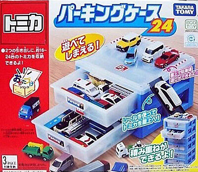 TAKARA TOMY TOMICA World Parking Container Case (2 decks for 16-24 toy cars)