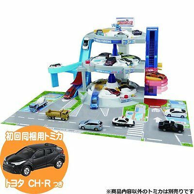 Takara Tomy Tomica World Triple Grand Parking 1st Set w/ 1 Bonus Tomica Diecast