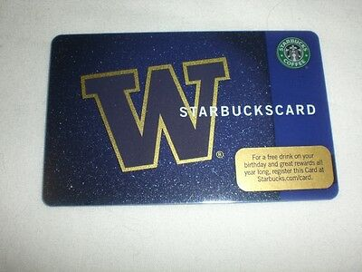 Starbucks UW University of Washington Huskies card (RARE 2009 LIMITED)