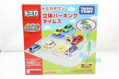 Takara Tomy Tomica World Town Outdoor Parking Park Set Toys for 8 Cars Diecast