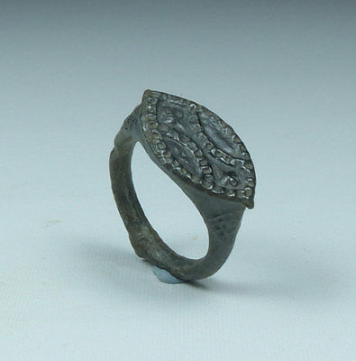 Ancient Byzantine Bronze Ring 6Th Century Ad